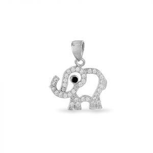Dije Brilho Silver de plata elefante con microcircones
