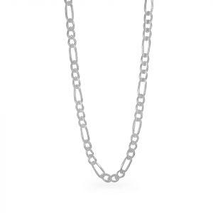 Cadena Brilho Silver de plata figaro martillada