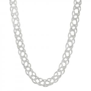 Cadena Brilho Silver de plata barbada