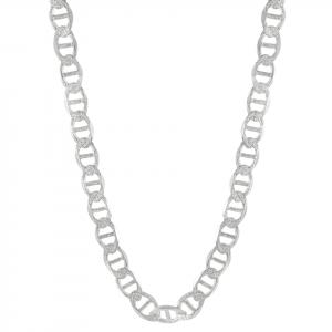 Cadena Brilho Silver de plata escalera diamantada