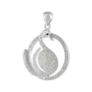 Dije Brilho Silver de plata cisne con microcircones