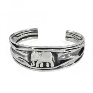Aro Brilho de plata envejecido con elefante