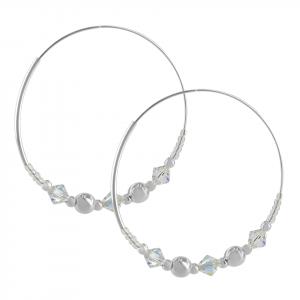 Candonga Brilho de plata con balines y cristales