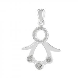 Dije Brilho Silver de plata figura con microcircones