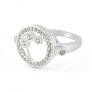 Anillo Brilho Silver de plata circular con microcircones